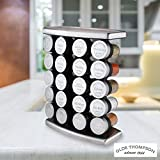 Olde Thompson Stainless Steel 20 Jar Spice Rack With Spices