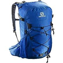 Salomon Evasion 20 - Mochila 20 L, correa para el pecho ajustable, portador de bastones, 45x35x25 cm, azul