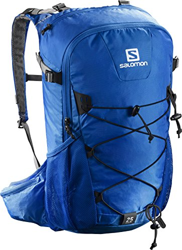 Imagen de salomon evasion 25   25 l, correa para el pecho ajustable, portador de bastones, 45x35x25 cm, azul