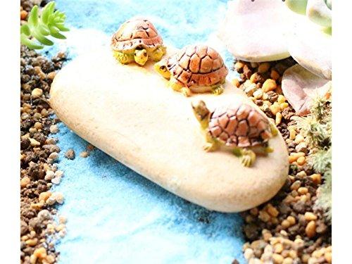 Linda Mini Schildkröte Harz und Haus Miniatur Stein Garten-Feen Micro Landschaft Dekoration Garten Blumentöpfe Bonsai Craft Decor (Bunt) Kleine Ornamente