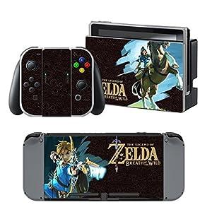 Nintendo Switch + Controller Aufkleber Schutzfolien Set – Zelda (1) /Switch