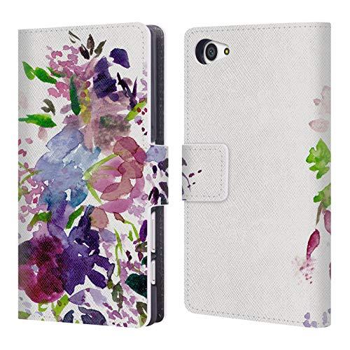Head Case Designs Offizielle Mai Autumn Lilien Blumiges Bouquet Leder Brieftaschen Huelle kompatibel mit Sony Xperia Z5 Compact Mais Lilie