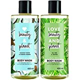 Love Beauty & Planet Radical Refresher Body Wash with Coconut Water and Mimosa Flower Aroma, 400 ml & Love Beauty & Planet Da