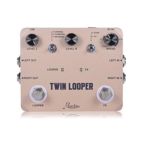 Rowin Twin Looper Pedal de Guitarra Eléctrica con USB-Loop Station LTL-02
