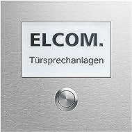 Elcom 1interruttore di + Gr. scudo CZM 210modesta modesta funzione modulo per citofono 4250111849203
