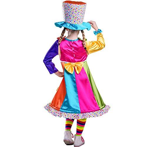 Imagen de dress up america  disfraz de payasa con lunares para niños, multicolor, talla xs, 4 años 852 t4  alternativa