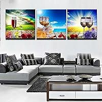 BAIYANGYANG Moderne Malerei Home Dekorative Kunst Bild Malen Auf Leinwand  Druckt 3 Panel Schöne Blumen Wein