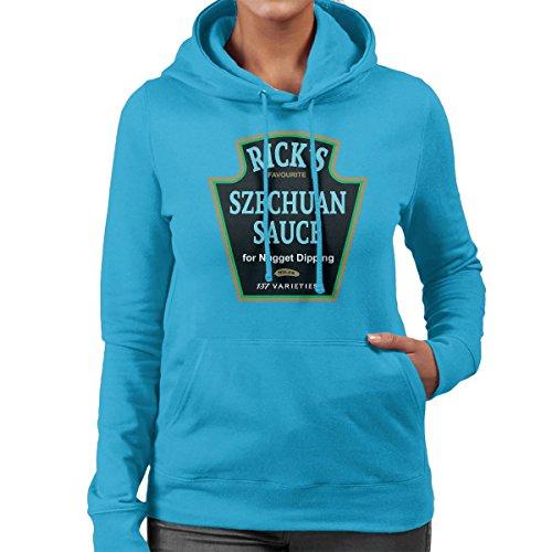 Ricks Favourite Mulan Szechuan Dipping Sauce Rick And Morty Women's Hooded Sweatshirt Sapphire