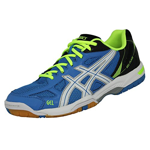 asics-gel-flare-5-men-herren-hallenschuhe-blue-white-flash-yellow-b40pq-6001-schuhgrosse465