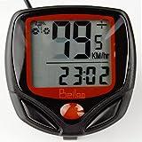 BeiLan Odómetro de la bicicleta bici de la computadora del velocímetro LCD del sensor de movimiento cableado a prueba de agua Velocidad de seguimiento ciclo al aire libre Tiempo real