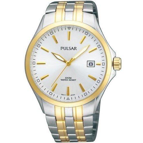 Pulsar Uhren Klassik PS9084X1 - Reloj analógico de cuarzo para mujer, correa de acero inoxidable chapado color dorado