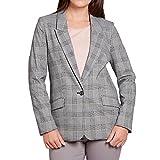 TOM TAILOR 39 55041.00.70 2640 Damen Blazer mit Pattentaschen im Karo-Design, Groesse 40, grau/kariert