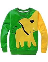 MIOIM® Lucky Boy Tapas de Dibujos Animados Niños de La Manera del Elefante Sudadera Pullover Camisetas