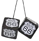 Auto Glückswürfel Würfel Spiegel Anhänger Route 66 schwarz