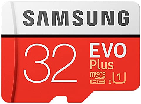 Samsung EVO Plus Micro SDHC 32GB bis zu 95MB/s, Class 10 U1 Speicherkarte (inkl. SD Adapter) [Amazon Frustfreie