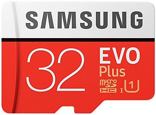 Samsung EVO Plus Micro SDHC 32GB bis zu 95MB/s, Class 10 U1 Speicherkarte (inkl. SD Adapter) [Amazon Frustfreie Verpackung] (64gb Sdxc Samsung)