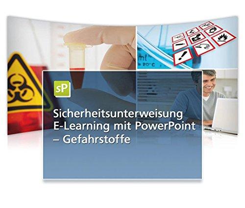 Sicherheitsunterweisung Gefahrstoffe, E-Learning mit PowerPoint, CD-ROM