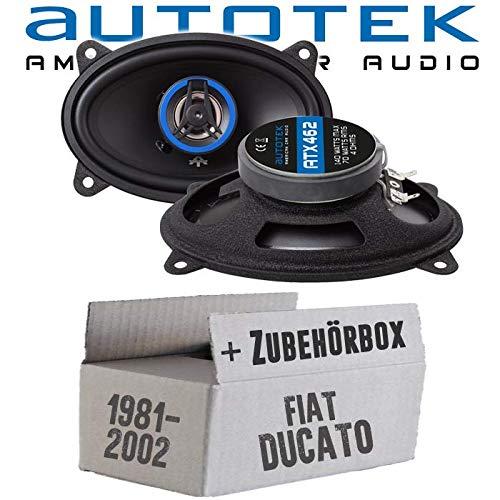 Lautsprecher Boxen Autotek ATX-462 | 2-Wege oval 10x15cm Koax Lautsprecher 4\'x6\' Auto Einbauzubehör - Einbauset für FIAT Ducato 230 Front - JUST SOUND best choice for caraudio