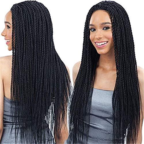 kashyk Lace Front geflochtene Zopf Perücke, schwarz sexy synthetische hitzebeständige Faser Perücke für Frauen