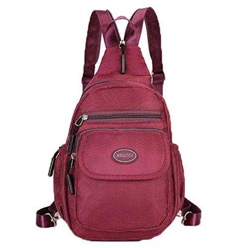 Ohmais Rücksack Rucksäcke Rucksack Backpack Daypack Schulranzen Schulrucksack Wanderrucksack Schultasche Rucksack für Schülerin Bordeaux