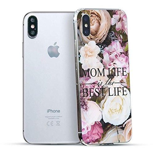 finoo | Iphone X Hard Case Handy-Hülle mit Motiv | dünne stoßfeste Schutz-Cover Tasche in Premium Qualität | Premium Case für Dein Smartphone| Fuck You Herz Mom Life Best Life