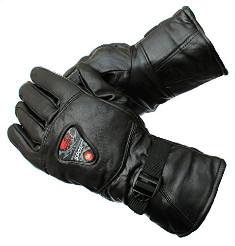 AlexVyan 1 Pair Black Premium High Quality Soft Leather Warm Winter Protective Riding Gloves for Cycling Byke Bike Motorcycle for Men, Boys, Male Gents {Universal Size}