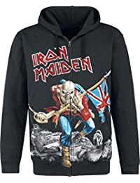 Iron Maiden The Trooper - Battlefield Sudadera capucha con cremallera Negro