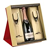 Bollinger Rose Champagne in Gift Box with Two Flute Red NV 75 cl