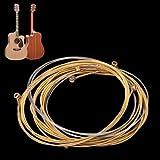 MagiDeal Un ensemble de 6 Cordes pour Guitare Acoustique