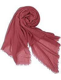 niceEshop(TM) Women Solid Color Plus Long Extra Large Scarf Soft Signature Cotton Wrap Shawl Scarves