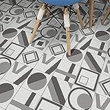 JY ART VZYX Fliesenaufkleber Dekorative Wandgestaltung mit Fliesenaufklebern für Küche und Bad, Deko-Fliesenfolie für Küche u. Grau Dekoration CZ073, 20cm*100cm*5pcs