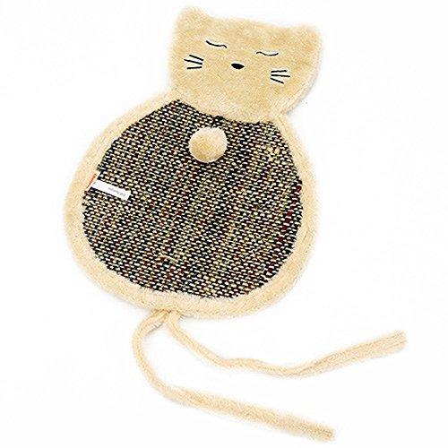 Weiwei letto per cani stuoia di artiglio di gatto con piccola palla gatto lettiera gatto letto gatto gabbia opaco canapa gatto che graffia bordo pieghevole orecchio pet supplies pelliccia + linea n