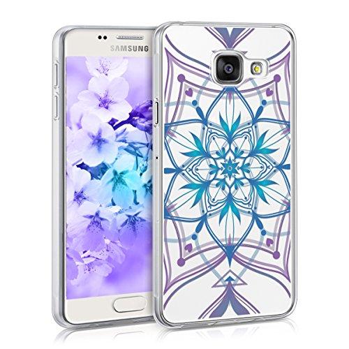 kwmobile Samsung Galaxy A3 (2016) Hülle - Handyhülle für Samsung Galaxy A3 (2016) - Handy Case in Blau Violett Transparent - Hypnotische Violett