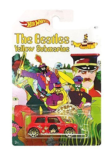 Hot Wheels Morris Mini 2016 Hot Wheels THE BEATLES 50th Anniversary YELLOW SUBMARINE 1:64 Scale Collectible Die Cast Metal Toy Car Model 4/6 by Hot Wheels