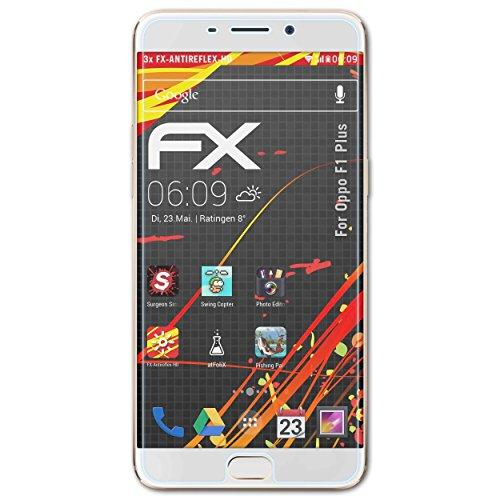 atFolix Schutzfolie kompatibel mit Oppo F1 Plus / R9 Bildschirmschutzfolie, HD-Entspiegelung FX Folie (3X)