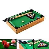 Juego de Mesa de Piscina DE 45,7 cm – Casual Sports & Games Room Mini – Mesa de Billar Portátil Verde y Negro y Madera