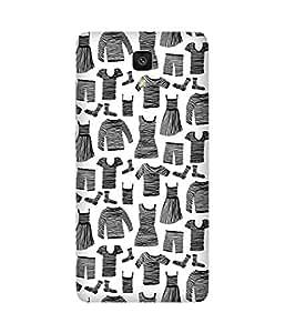 Black Striped Clothes Xiaomi Mi 4 Printed Back Cover