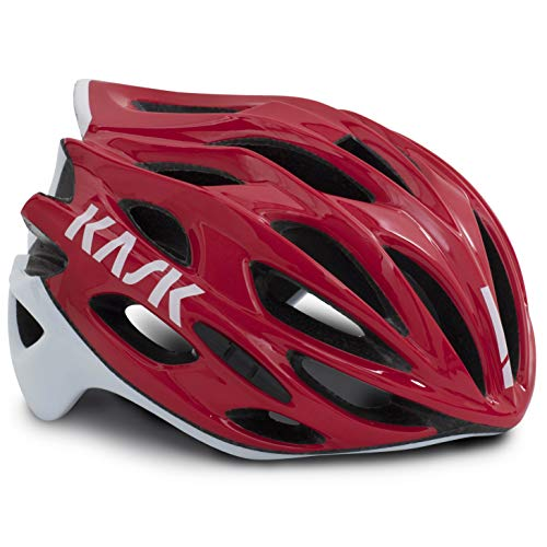 Kask Mojito X Helm rot/weiß Kopfumfang L | 59-62cm 2019 Fahrradhelm