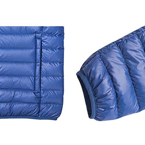 Meijunter Homme Respirant Chaud Sous-Vêtement Coupe-vent Doux Hiver Coat Outwear Navy