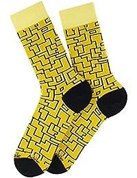 Mi-chaussettes Labyrinthe en coton