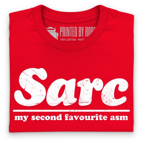Second Favourite Sarcasm T-Shirt, Herren Rot