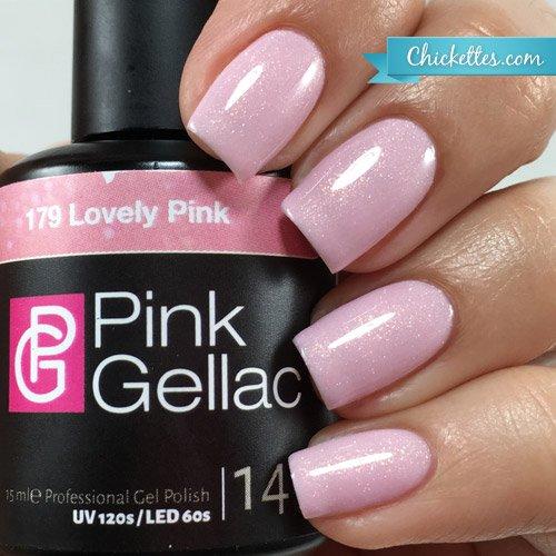Vernis à ongles Pink Gellac 179 Lovely Pink. 15 ml gel Manucure et Nail Art pour UV LED lampe, top coat résistant shellac