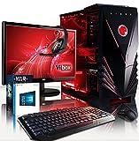 VIBOX Rainmaker 52 Gaming PC Computer mit Spiel Bundle, Windows 10 OS, 22 Zoll HD Monitor (4,7GHz Intel i7 6-Core Coffee Lake Prozessor, Nvidia GeForce GTX 1060 Grafikkarte, 32Go DDR4 RAM, 1TB HDD)