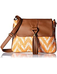 Kanvas Katha Women's Sling Bag (Brown) (KKSNWV007)