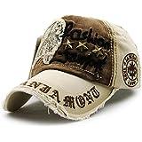 Carta Patch Remaches Casual gorra de béisbol de algodón y sombrero al aire libre de moda para hombres y mujeres-amarillento, iParaAiluRy