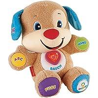 Fisher-Price CDL23 Lernspaß Hündchen interaktives Plüschtier und Lernspielzeug mit Liedern und Sätzen mitwachsende Spielstufen, ab 6 Monaten deutschsprachig