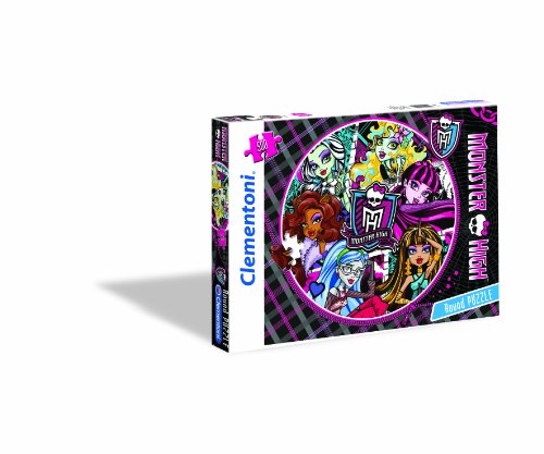 Clementoni 30422.6 - Puzzle Rundpuzzle - Ghoulastic Monster High, 500 Teile (In High Halloween-film Englisch Monster)