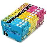 OfficeWorld Ersatz für Epson 16XL Tintenpatronen Hohe Kapazität Kompatibel für Epson Workforce WF-2010W WF-2510WF WF-2520NF WF-2530WF WF-2540WF WF-2630WF WF-2650DWF WF-2660DWF (3 Cyan, 3 Magenta, 3 Gelb)