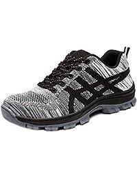 hot sale online 99bfa 9aaa6 CHNHIRA Chaussures de Sécurité Homme Embout Acier Protection Confortable  Léger Respirante Unisexes Chaussures ...