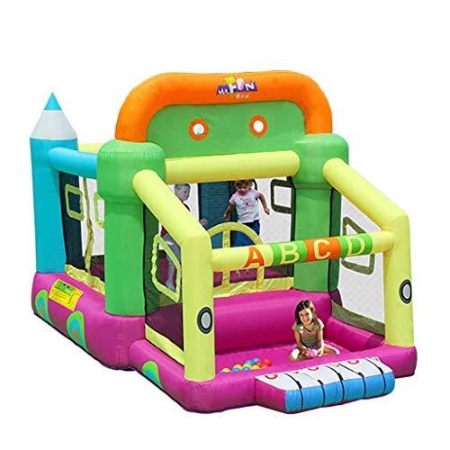 Trampolín Inflable Castillo Inflable para Niños Pequeños De Interior Piscina para Niños con Forma De Pelotas De Colores Cerca De Juegos para Niños Grandes Juguetes para Niños (Size : 225x350x220cm)